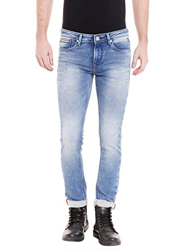 KILLER Men's Skinny Fit Jeans (E-9516 BOGOTA SKFT SBL_Blue_32W x 34L)  available at amazon for Rs.1919