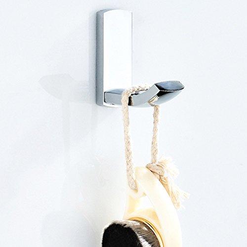 FW Garderobe Haken neu einfacher Haken Messing Überzug hell Silber Küche Kleidung Kleiderhaken Kleiderhaken -