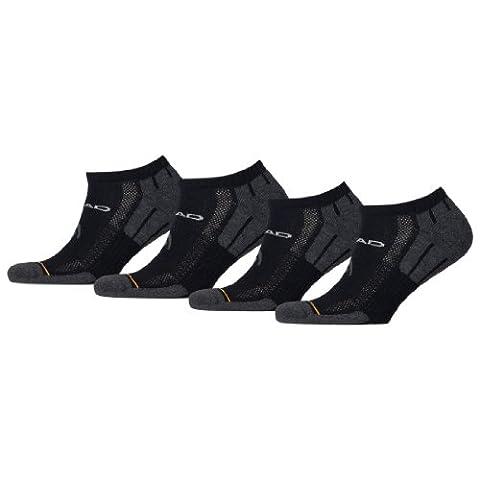 HEAD Unisex Performance Sneaker Sportsocken 8er Pack, Größe:43-46;Farbe:black