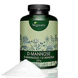 Vegavero D-Mannose | 250 grams of Pure Powder | Suitable for Diabetics | Natural Support | 100% Vegan