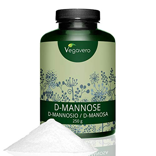 D Mannosio Vegavero | IN POLVERE: 100 g | dal MAIS puro al 99% | Contro le Infezioni del tratto Urinario | Naturale e Senza Additivi | Vegan