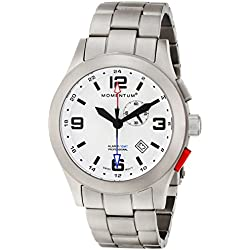 Momentum Mens Quartz Watch, Analogue Classic Display and Titanium Strap 1M-SP58L0