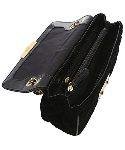 MICHAEL Michael Kors Femmes Sac à bandoulière matelassée Noir Black Fabric