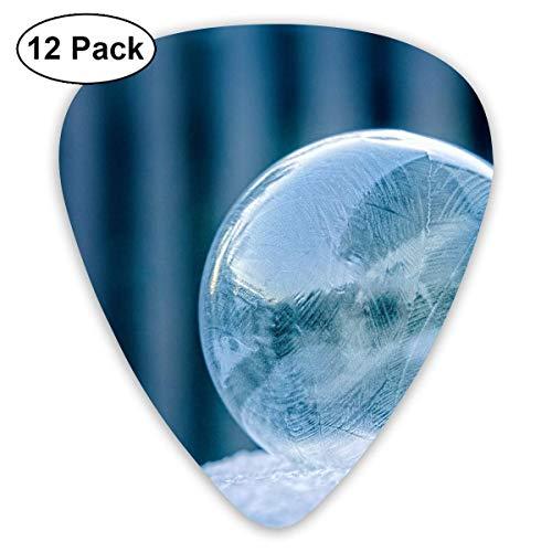 Glass Ball On White Surface Guitar Picks - 12 pack,0.46/0.73/0.96 Mm Guitar
