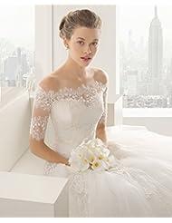 &huahua Hombro de mantón de novia cadena/collar/la joyería/de la boda accesorios/cordón/moda/capa/fina/ancho: 88cm largo: 35cm , s