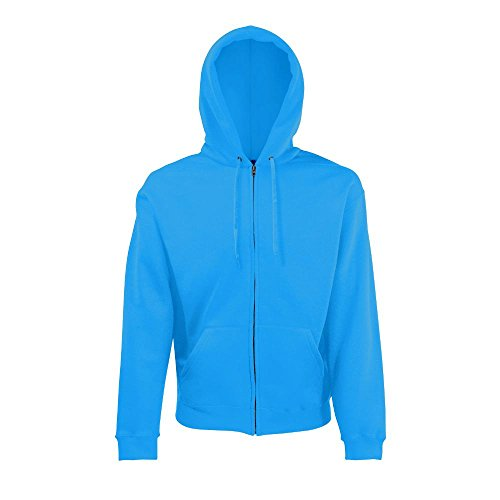 Fruit of the Loom Hooded Sweat-Jacket Azure Blue