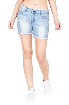 KROSSSTITCH High Waist Denim Shorts for Women