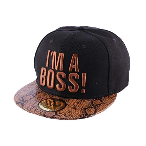 JBB COUTURE Snapback I'm a Boss Noir et Marron - Mixte