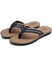 db1427d38cfbf2 BestJuly Mens Flip Flops Men Summer Soft Stripe Sandals Male Slipper Rubber  Sandal Flip Flops Shoes