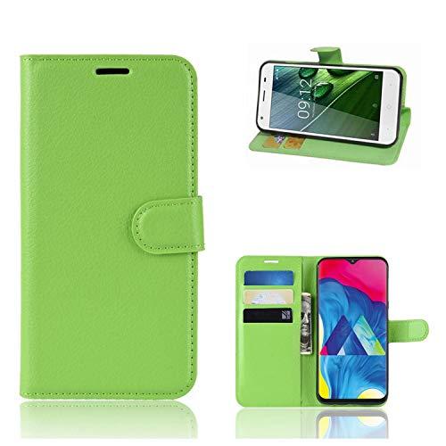 Ronsem Xiaomi Mi8 Youth / Mi8 Lite Hülle PU Leder Wallet Schutzhülle mit Kartenschlitz Flip Handyhülle für Xiaomi Mi8 Youth / Mi8 Lite - Grün