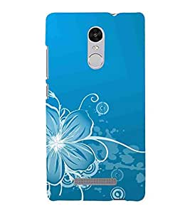 For Xiaomi Redmi Note 3 :: Xiaomi Redmi Note 3 Pro :: Xiaomi Redmi Note 3 MediaTek floral background ( floral background, flower, blue background ) Printed Designer Back Case Cover By CHAPLOOS