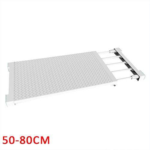 Jannyshop 50-80cm Estante Almacenamiento Ajustable