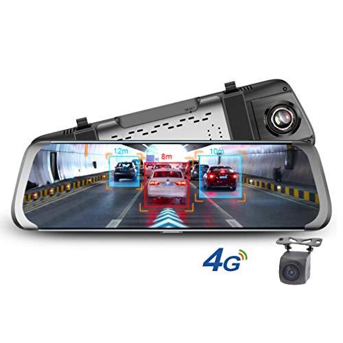 SZKJ E08 25,4 cm (10 Zoll) Full Screen 4G Touch IPS Universal Bundle Auto Armaturenbrett Cam Rückspiegel Rückspiegel mit GPS Navi Bluetooth WiFi Android 5.1 Dual Lens FHD 1080P Cam Bundle
