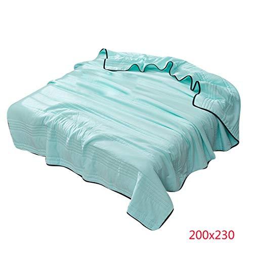 Uzinb Sommer Solid Color Quilt Geprägte Klimaanlage Bettdecke Thin Converter Genähte Bedding - Klimaanlage Color-glanz