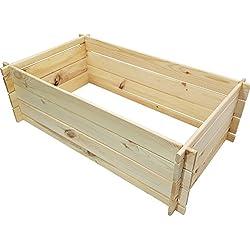 Composteur en bois naturel de proheim 95 x 55 x 30 cm fait en bois 100% FSC - Composteur en bois pour jardin 110 litres