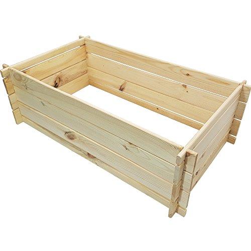 proheim Holzkomposter 95 x 55 x 30 cm Natur Kompostbehälter aus 100% FSC Holz stabiler Gartenkomposter mit Stecksystem 110 Liter Fassungsvermögen
