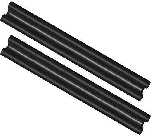 com-four® 2X Tappo per tiraggio della Porta - Guarnizione per Porta in Microfibra - Tappo per tiraggio con Doppia Guarnizione - Protezione da tiraggio e Rumore - 86 cm (002 Pezzi)