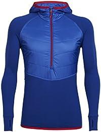 Icebreaker Ellipse T-shirt à manches longues demi zip capuche pour UPS M Cobalt/Cobalt/Rocket
