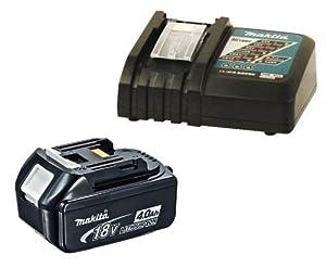 Makita BL1840 18V 4.0Ah Li-Ion Battery (196399-0) Plus DC18RC 14.4-18V Lithium-ion Battery Charger 240V