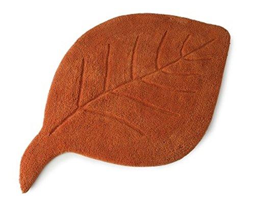 leaf-design-luxury-bath-mat-washable-100-cotton-bathroom-non-slip-base-shower-terracotta