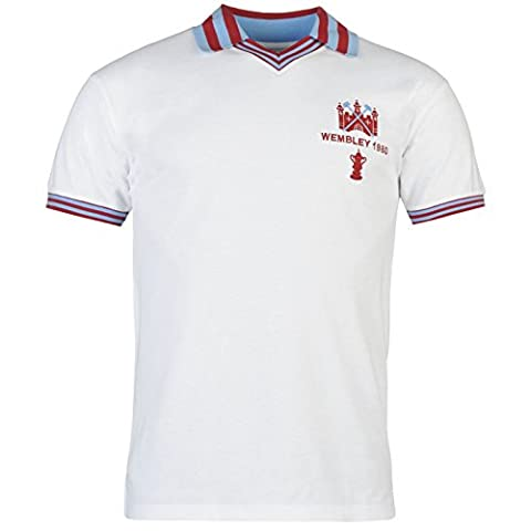 West Ham United FC 1980 FA Cup Final Jersey Mens Retro Football Soccer Top Shirt Large