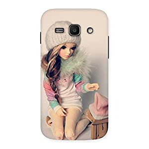 Luxirious Cute Winter Doll Multicolor Back Case Cover for Galaxy Ace 3