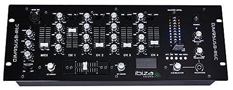 Ibiza DJM95USB-REC Table de mixage Noir