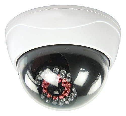 eurosell-camera-factice-fausse-ip44-camera-dome-professionnelle-factice-avec-led-ir-clignotante-a-le