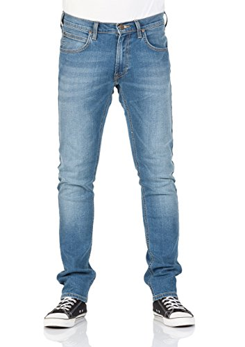 Lee Herren Tapered Fit Jeans Luke Dark Trace Indigo Worn (DKFP)