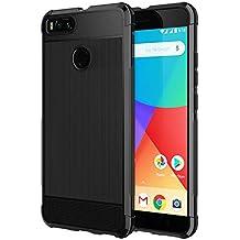 SPARIN [2 Unidades] Funda Xiaomi Mi A1, Caracasa Xiaomi Mi A1 TPU Negro