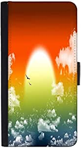 Snoogg Fantasy Sunsetdesigner Protective Flip Case Cover For Htc M7