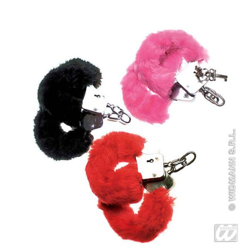 Black fur handcuffs (accesorio de disfraz)