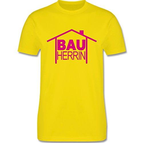 Sprüche - Bauherrin Heimwerker - Herren Premium T-Shirt Lemon Gelb