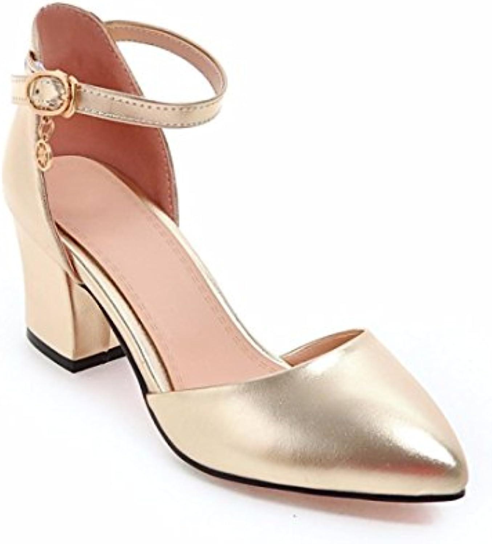 Zapatos de Tacón/Señalaron los Zapatos de Tacón Alto, Baotou Gruesas Sandalias de Tacón, Zapatos de Mujer de Gran...