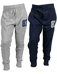 ABITO Boys Jogger Fit Track Pants Pack of 2 Navy Grey