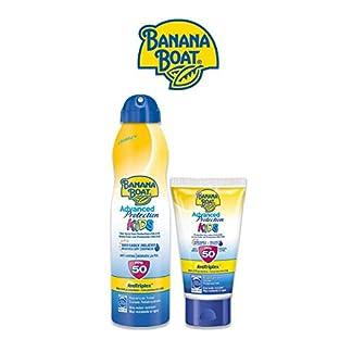 Banana Boat KIDS Pack Duo SPF 50 – Kit de Crema Solar Niños, Spray de 220 ml + Mini Crema Solar Niños, Loción de 60 ml