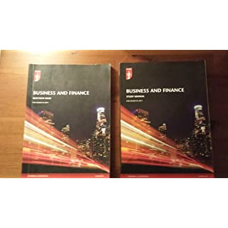 ACA ICAEW Business and Finance Study Manual