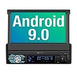 PUMPKIN Android 9.0 Autoradio Moniceiver mit Navi Unterstützt Bluetooth DAB+ DSP Android Auto WiFi 4G USB MicroSD 1 Din 7 Zoll Universal
