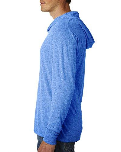 BOMOVO Herren Langarm Fashion Freizeit Langarm Shirt Slim Fit mit Kapuze Blau