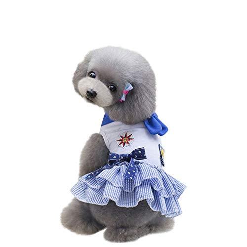 Yezijiang Hundekleid Marine Stil Kostüm Seemann Uniform Rock Sommer Pet Kleidung