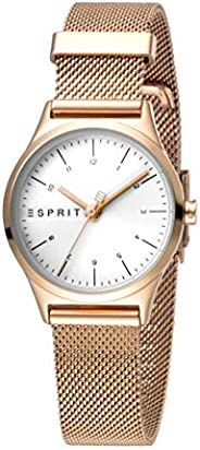 Esprit Essential Women's Silver Dial Stainless Steel Analog Watch - ES1L052M