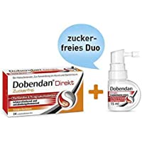 Sparset Dobendan direkt zuckerfrei Flurbiprofen 24 Lutschtabl. + Dobendan direkt Flurbiprofen 15 ml Spray preisvergleich bei billige-tabletten.eu