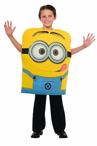 Despicable Kostüm 2 Me Minion Dave - Despicable Me 2 Deluxe Dave Minion Costume, Small by Rubies TOY (English Manual)