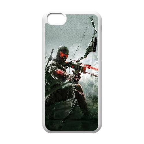 Crysis 3 33 coque iPhone 5C Housse Blanc téléphone portable couverture de cas coque EBDXJKNBO16073
