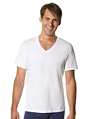 Hanes Men`s Tall TAGLESS® ComfortSoft® V-Neck Undershirt - Best-Seller!