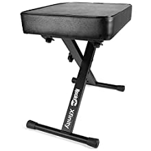 RockJam RJKBB100 Premium Adjustable Padded Keyboard Bench and Piano Stool