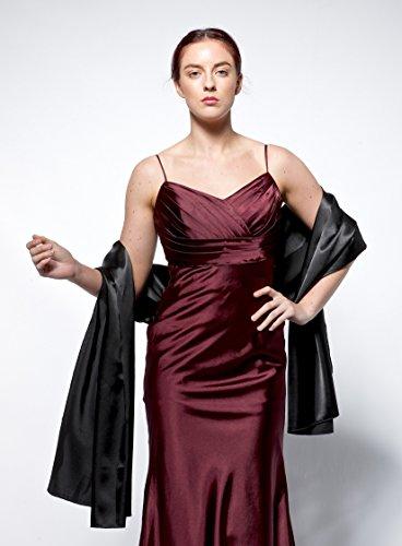 atopdress - Robe - Portefeuille - Sans Manche - Femme Argenté Argent Taille Unique Argenté - Noir