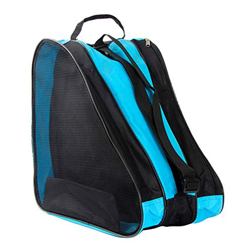 QLING Skischuhtasche Schlittschuhe Tasche Tasche Schlittschuhe Eislauf Rollschuhetasche Kinder schlittschuhtasche Kinder Skifahren Nylon Rollschuhe Tasche mit Rucksackfunktion Wasserabweisend(Blue)