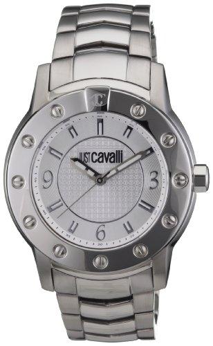 Just-Cavalli-Crystal-Gent-solo-tempo-R7253661015-Reloj-de-caballero-de-cuarzo-correa-de-acero-inoxidable-color-plata