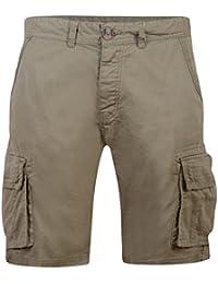 8ddae43723 Mens Crosshatch Knee Length Shorts Cargo Combat Shorts Pocket Cotton Bermuda